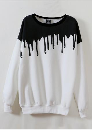 Printed Long Sleeve Sweatshirt