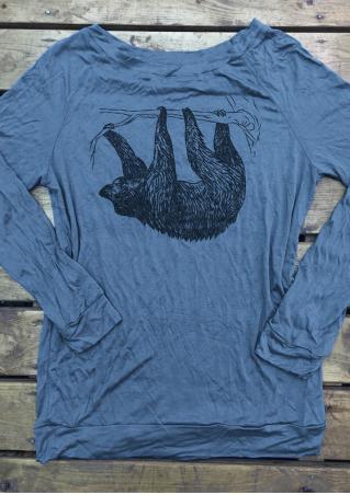 Bear Printed Long Sleeve T-Shirt Bear