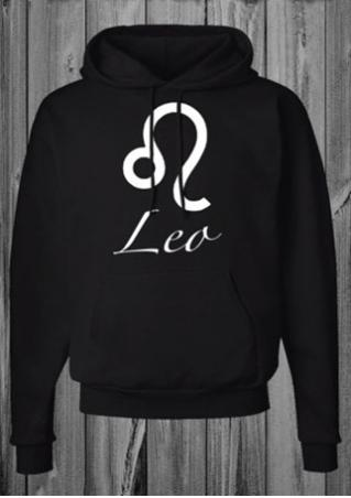 Lea Printed  Kangaroo Pocket Long Sleeve Hoodie