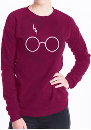 Harry Potter Glasses Printed Sweatshirt