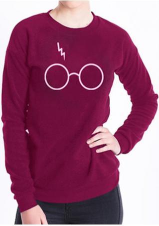 Harry Potter Glasses Printed Sweatshirt