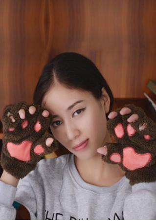 Paw Soft Fingerless Gloves Paw