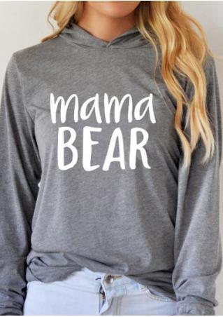 Mama Bear Printed Hoodie