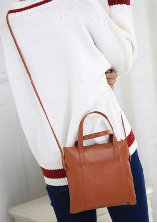 PU Leather Casual Shoulder Handbag