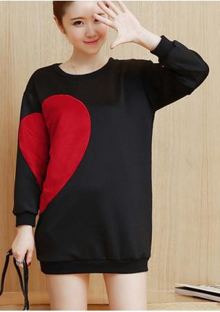 Love Splicing Long Sleeve Sweatshirt