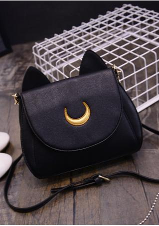 Ear Moon Splicing Adjustable Shoulder Bag Ear