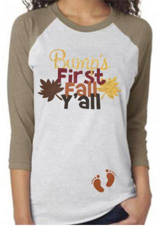 Bump's First Fall Y'all Printed T-Shirt