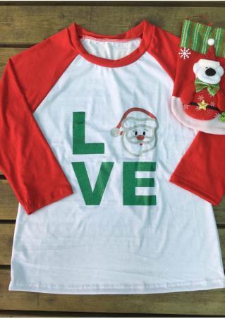 Christmas LOVE Santa Claus Printed T-Shirt