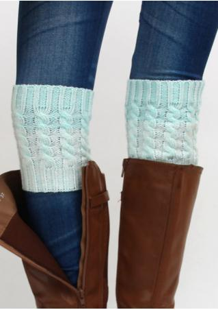 Two-Color Splicing Knitted Boot Socks Two-Color