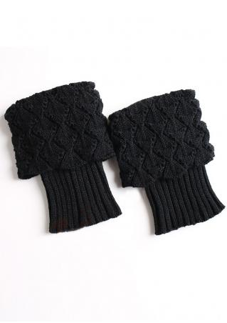Solid Knitted Boot Socks