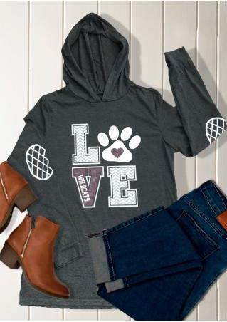 LOVE Printed Casual Hoodie