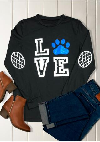 LOVE Paw Printed Blouse