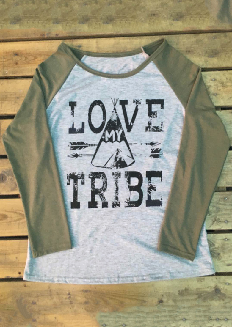 Love My Tribe Printed T Shirt Fairyseason