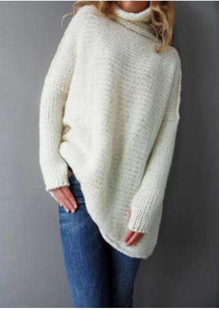 Solid Long Sleeve Chic Sweater