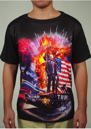 Trump Printed Casual T-Shirt