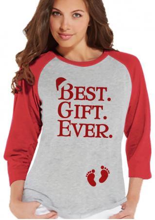 Christmas Best Gift Ever Printed T-Shirt Christmas