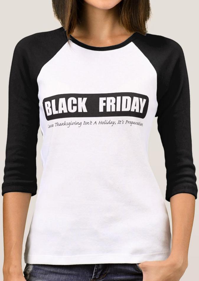 Black Friday Printed Splicing T Shirt Fairyseason