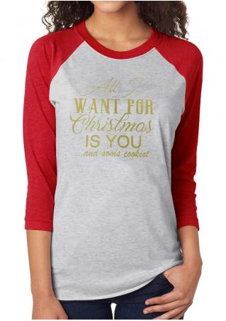 Christmas Merry Bright Printed T-Shirt