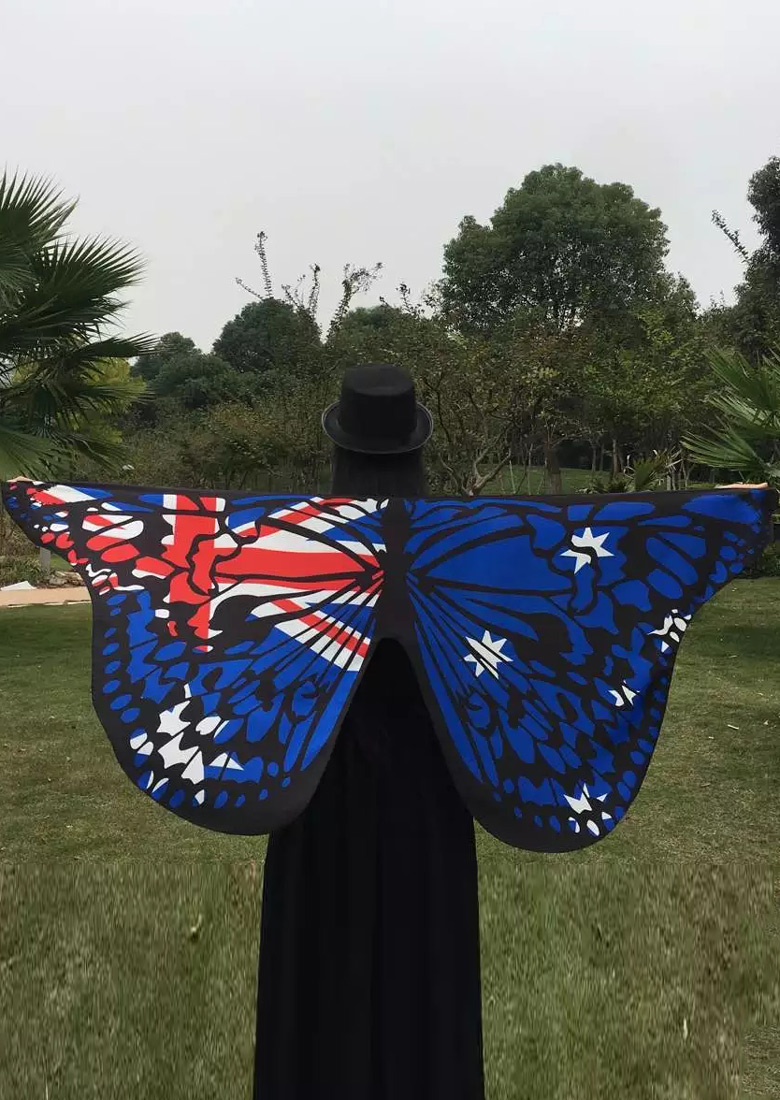 Image of American Flag Printed Novelty Cape