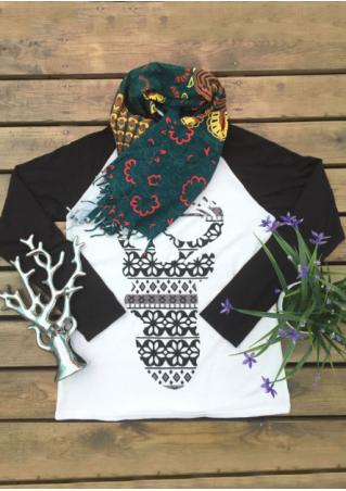 Christmas Geometric Reindeer Baseball T-Shirt Christmas