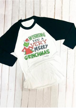 WISHING YOU A VERY MERRY GRINCHMAS Baseball T-Shirt