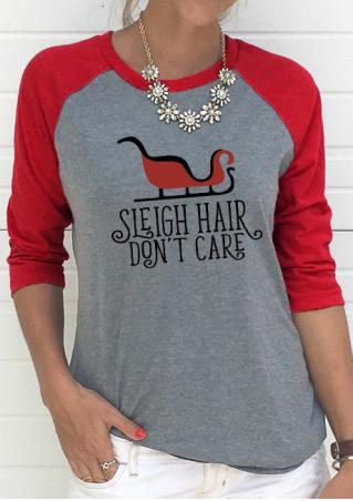 SLEIGH HAIR DON'T CARE Baseball T-Shirt Without Necklace