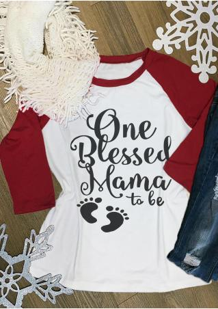 One Blessed Mama To Be Baseball T-Shirt