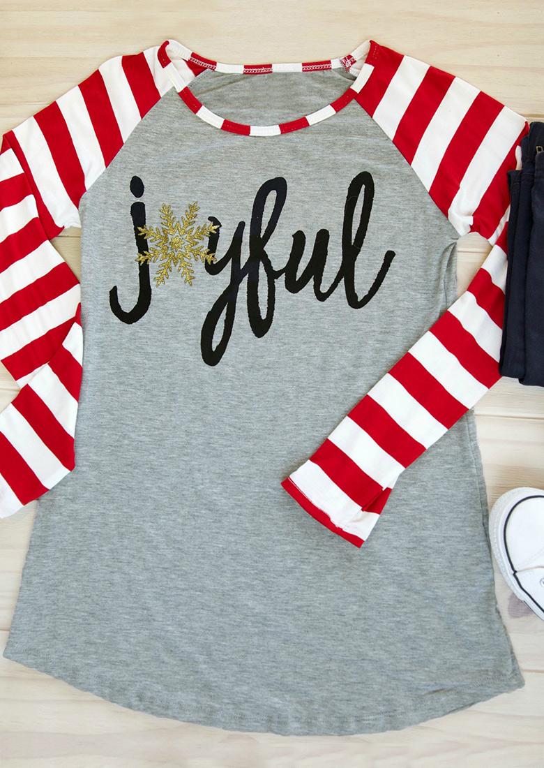 Snowflake Joyful Long Sleeve Baseball T Shirt Fairyseason