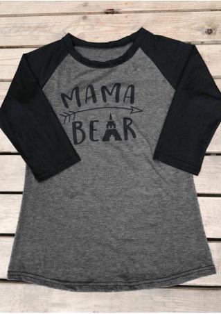 MAMA BEAR Arrow O-Neck Baseball T-Shirt