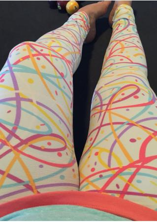 Multicolor Confetti Skinny Leggings