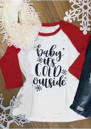 Christmas Letter Baseball T-Shirt Christmas