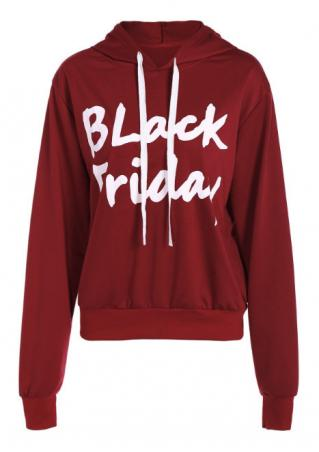 Black Friday Drawstring Hoodie Black