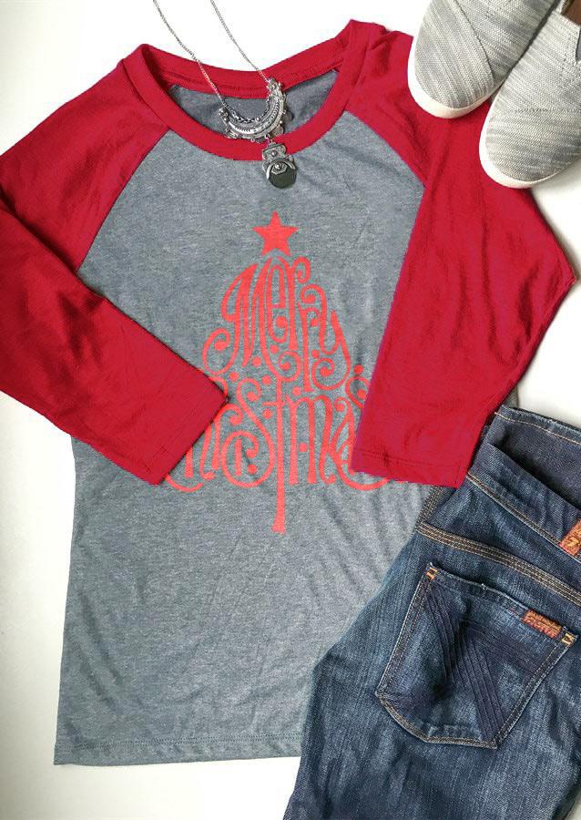 Tricou de damă, fashion, cu mâneci lungi și imprimeu grafic