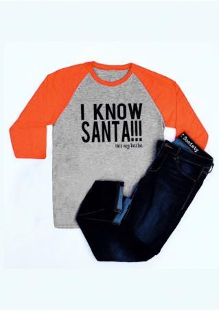 Christmas I Know Santa Baseball T-Shirt Christmas