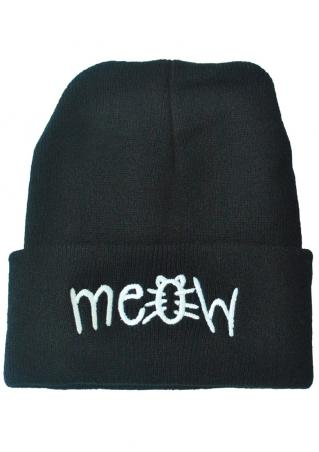 Meow Knitted Casual Hat