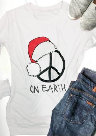 Christmas Hat On Earth Sweatshirt Christmas