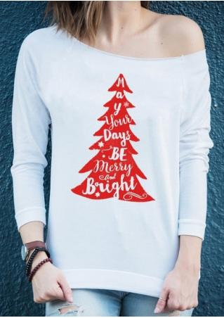 Christmas Tree Days Be Merry and Bright Sweatshirt