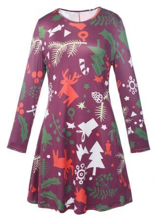 Christmas Tree Gift Mini Dress