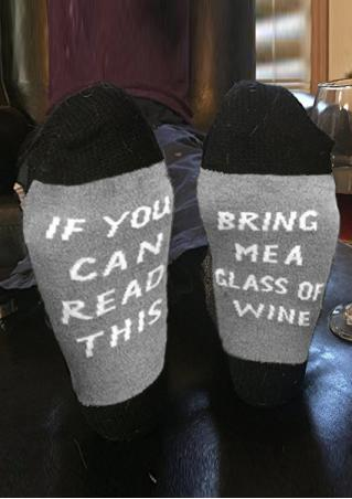 Bring Me a Glass Of Wine Socks Bring
