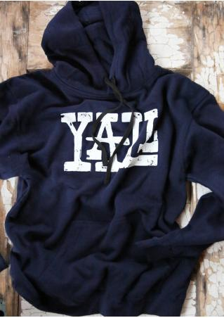 Yall Drawstring Casual Hoodie