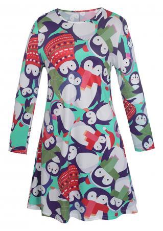 Christmas Hat Penguin Mini Dress