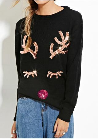 Christmas Reindeer Sequined Sweaters