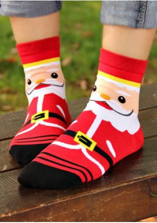 Christmas Santa Claus Reindeer Snowman Bear Socks
