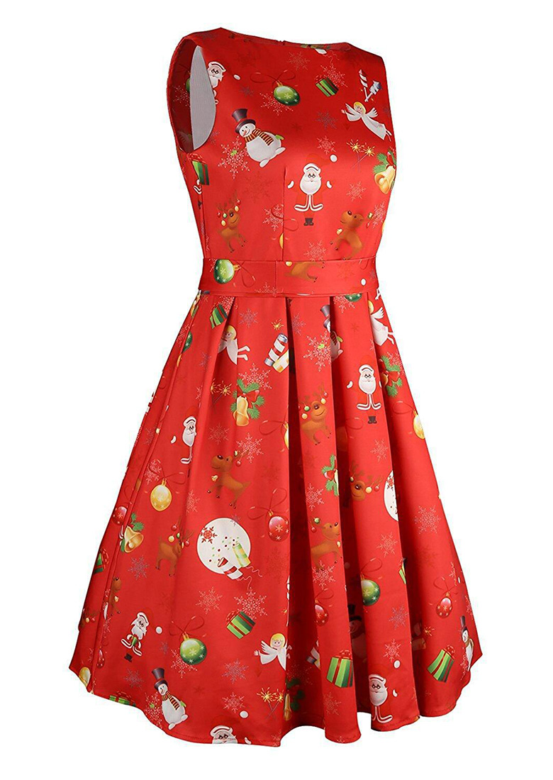 Christmas santa reindeer mini dress with belt fairyseason