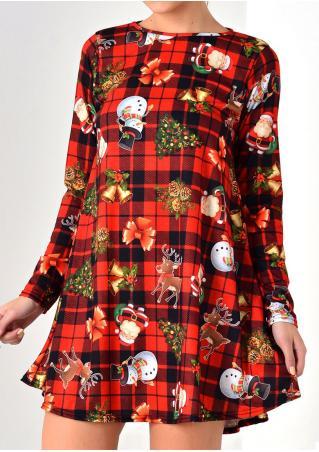 Christmas Tree Santa Snowman Reindeer Mini Dress