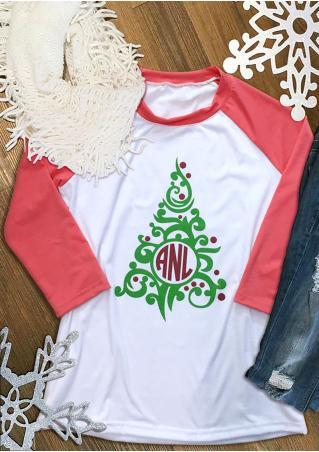 ANL Christmas Tree Baseball T-Shirt ANL
