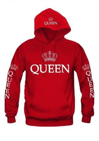 Crown Queen Drawstring Pocket Hoodie Crown