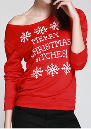 Merry Christmas Bitches Snowflake Blouse