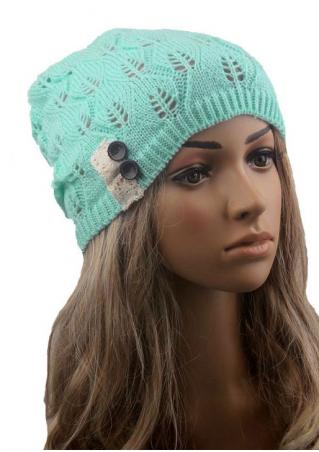 Lace Splicing Crochet Knitted Hat