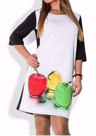 Apple Color Block Dress